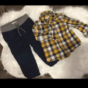 Cat & Jack Baby Boys Outfit 12 M  great condition